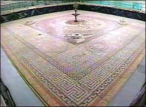 The Woodchester Pavement replica