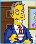 Prime Minister Tony Blair recently appeared in the Simpsons