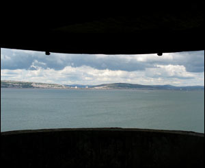 Looking out from the gun emplacements on Mumbles lighthouse island - sent by Jim Young