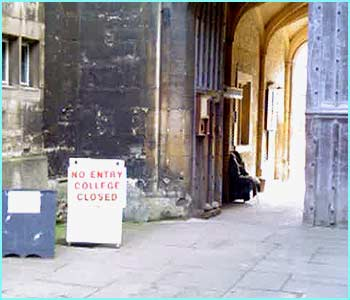 New College, Oxford, was one of the locations used for filming Harry Potter and the Goblet of Fire.