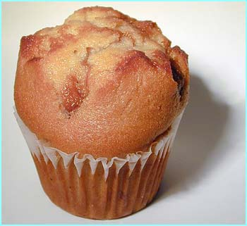Muffin made with vegetable oil  = 6 g of fat. Fat transports vitamins through your body, cushions your internal organs, helps your heart and immune system, gives you energy and makes food taste nicer.
