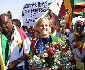 Kirsty Coventry picked up 3 medals