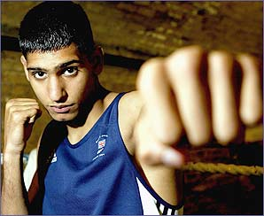 Amir Khan is Britain's youngest Olympic boxer since 1976