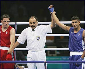 It's a happy Olympic debut for Amir