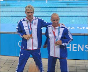 Mike Sansom picture of British divers Pete Waterford and Leon Taylor