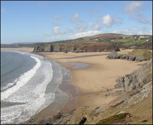 Jeremy Collins, who lives in Southgate, Gower, sent this shot of his local beaches, taken from Pennard Cliffs