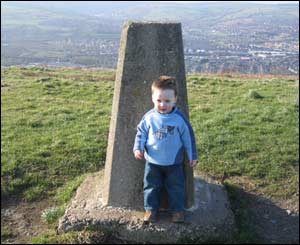 Leanne Brain's son Morgan on Caerphilly Mountain