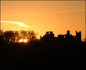 Dinefwr Castle near Llandeilo at sunset, taken by Chris Jones