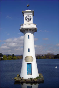 The lighthouse at Roath Park Lake in Cardiff was sent by Andrew Kays