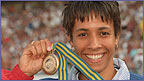 Doubling up, Kelly took bronze and silver at the Worlds in Gothenburg in 95 and headed to Atlanta in 96 in confident mood.