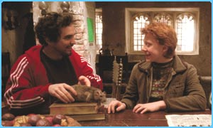 Alfonso Cuaron and Rupert Grint