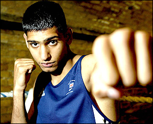 Amir Khan arrived at the Athens Olympics as Team GB's sole boxing representative