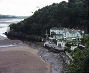 The hotel on the beach at Portmeirion, as captured by Helen Davies from Aberystwyth
