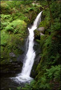 Lower Falls at Dolgoch, near Abergynolwyn, as captured by Royston Jones