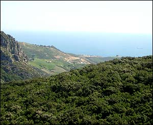 Mountains near Ceuta