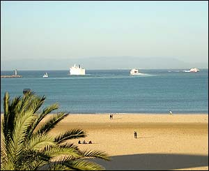 View of Spanish mainland from Tangier