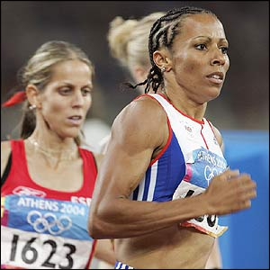 Kelly Holmes in the 1500m