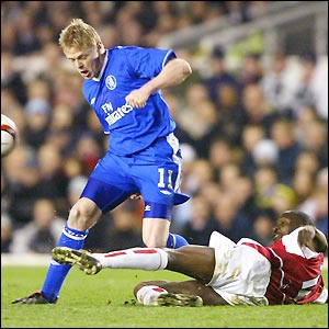 Damien Duff goes on the attack for Chelsea