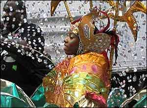 Woman at carnival in costume