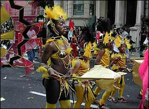 Dancers on carnival route