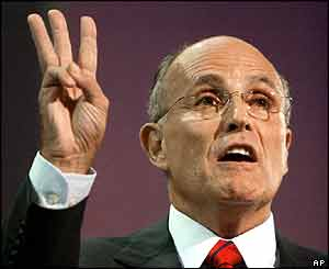 Former New York mayor Rudolph Giuliani