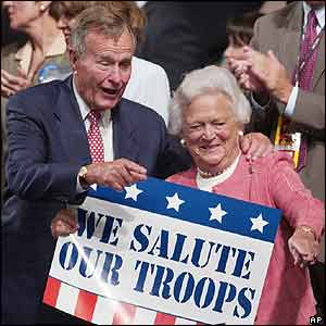 George Bush Senior with wife Barbara
