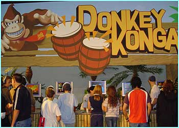 Donkey Konga for the GBA is a new game where you have to learn to play the bongos in time with the music.