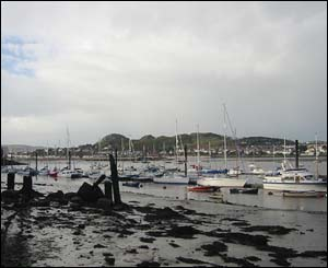 This picture of Conwy Bay on an overcast afternoon was sent by Niall O'Donoghue