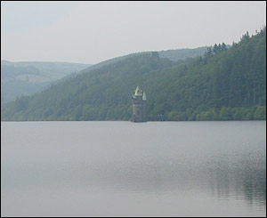 A picture of a peaceful Lake Vyrnwy, Montgomeryshire taken by Rhian Prust now living in Larnaca, Cyprus.