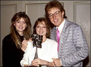 Caron Keating, Janet Ellis, Mark Curry