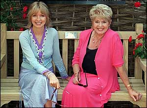 Caron Keating and Gloria Hunniford