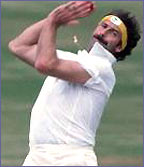 Australian legend Dennis Lillee in action during the 70s