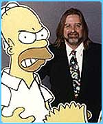 Homer Simpson and Matt Groening