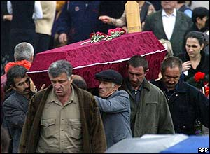 Men carrying coffin