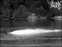 Speedboat racing across Windermere