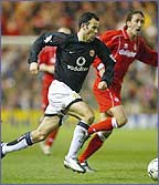 Ryan Giggs causung havoc out wide on the wing