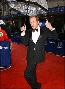 Bill Nighy on the red carpet