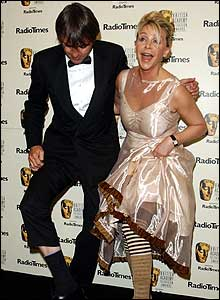 You dancing? You asking? An impromptu show from Neil Morrissey and Leslie Ash