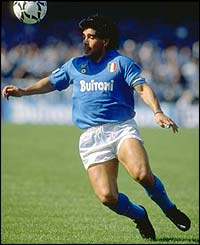 Maradona in action for Napoli
