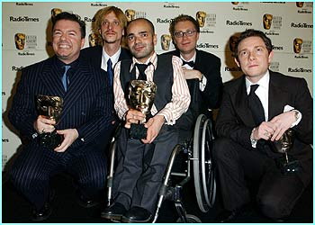 The Office won best situation comedy, with the best comedy performance going to the star of the show, Ricky Gervais