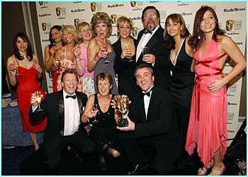 The cast of Coronation Street celebrate winning best continuing drama