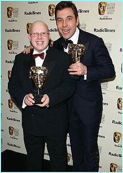 Best comedy programme went to Little Britain. Here are the comedians from the show, Matt Lucas and David Walliams