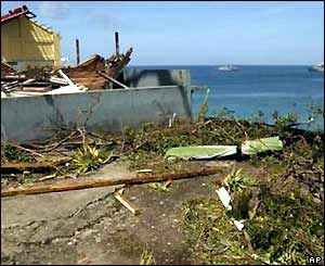 Debris of St George's Hospital, Grenada