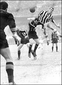 John Charles playing for Juventus
