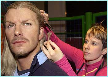 And whatever hairstyle Becks has, his waxwork at Madame Tussauds must follow! To be continued...