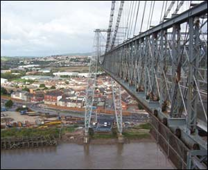 Glen Perry took this from the top of Newport's Transporter Bridge