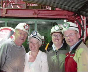 Howard and Cathy Dallimore on a visit to Howard's brother David and his wife Doris during a trip to Big Pit Mining Museum