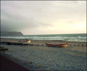 Photo taken at sunset, after a stormy day, of Borth Beach (Colin Grimes, Rhiwbina)