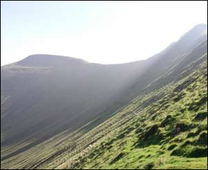 Stephen Wright stopped to take this picture of Pen-y-fan on the way up