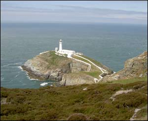 Jonathan Hutchings uses this image of South Stack in Anglesey as his screensaver